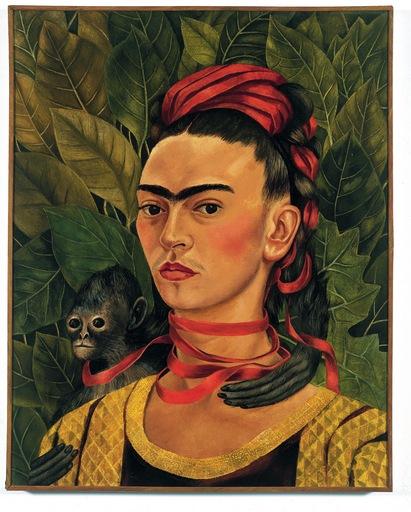 frida kahlo self-portrait with monkey 1940_0